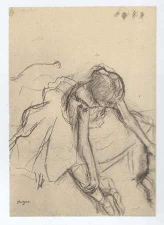 Disegno per lo studio di ballerina di Edgar Degas