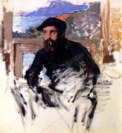 Claude Monet, autoritratto nel suo atelier