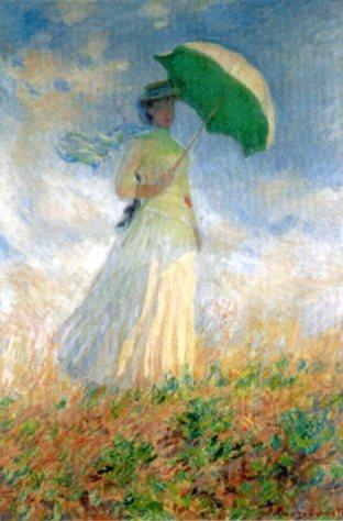 Claude Monet, ragazza con parasole girata verso destra