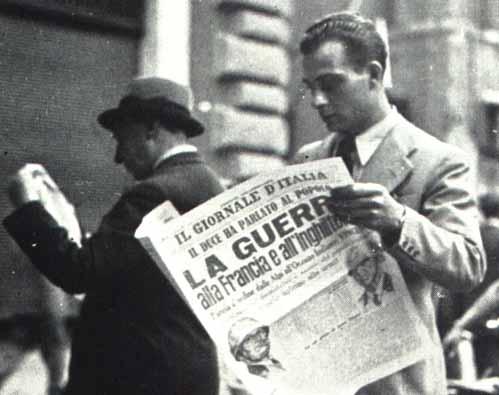 Dichiarazione di guerra, 10 Giugno 1940