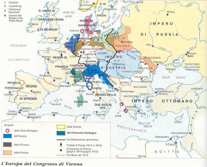 L'europa dopo il congresso di Vienna, 1815