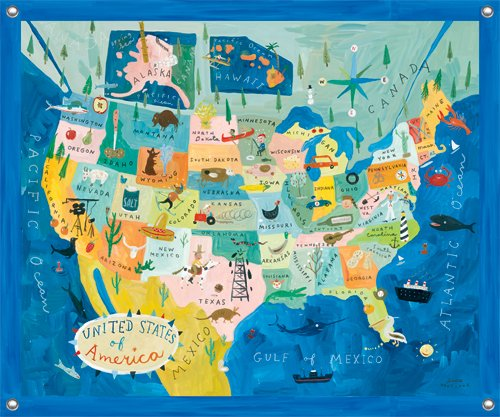 mappa divertente degli USA
