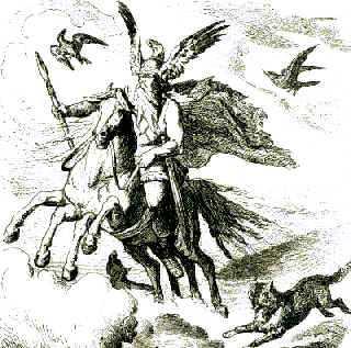 Odino, come Zeus nell'Olimpo, è il capo degli dei del Nord