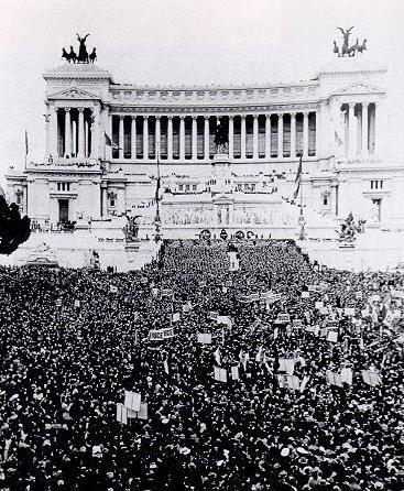 Dichiarazione di Guerra, 10 Giugno 1940, Piazza Venezia, Roma