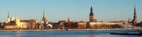 Riga e il fiume Daugava