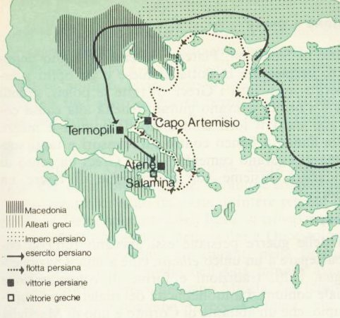 mappa della seconda guerra persiana